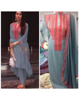 Bollywood Inspired - Karihma Kapoor In Grey Salwar Suit - K01