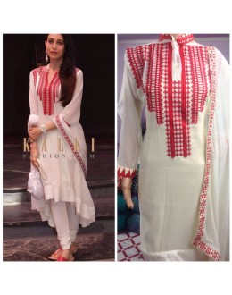 Bollywood Inspired - Karishma  Kapoor In Off-White Salwar Suit - K04