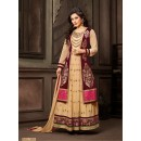 Festival Wear Beige Anarkali Suit  - 12009