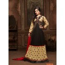Festival Wear Brown & Beige Anarkali Suit  - 12007