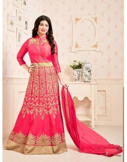 Ayesha Takia In Pink Embroidery Anarkali Suit  - 200