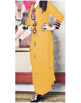 Ethnic Wear Readymade Dusty Cotton Kurti - WA0094