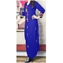 Party Wear Readymade Blue Cotton Kurti - WA0097