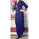 Festival Wear Readymade Navy Blue Cotton Kurti - WA0098