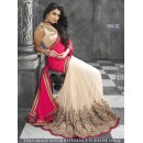 Bollywood Replica - Wedding Wear Pink & Cream Saree - SN-12
