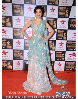 Bollywood Replica - Divya Khosla In Designer Blue Saree - SN-537
