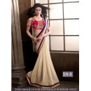 Bollywood Replica - Wedding Wear Beige Saree - SN-9