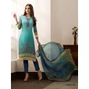 Party Wear Sky Blue Georgette Salwar Suit - 962-05