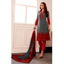 Party Wear Grey Georgette Salwar Suit - 962-06