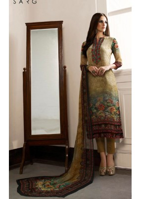 Party Wear Multicolour Georgette Salwar Suit - 962-09