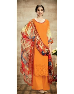 Party Wear Multicolour Cotton Palazzo Suit - 105