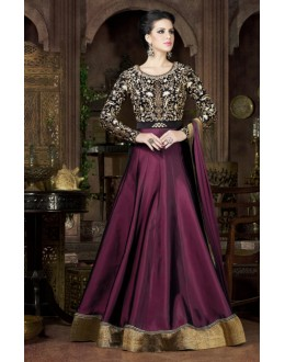 Ethnic Wear Multicolour Tapeta Silk Embroidered Gown - 4802-B