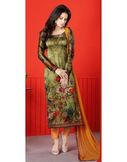 Festival Wear Milti-Colour Satin Salwar Suit  - 1409
