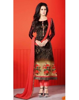 Ethnic Wear Multi-Colour Satin Salwar Suit  - 1402