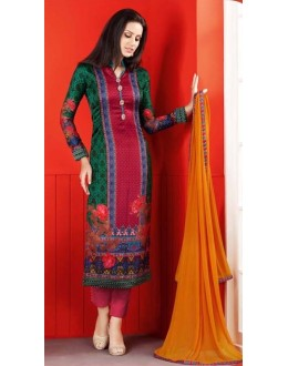 Festival Wear Multi-Colour Satin Salwar Suit  - 1404