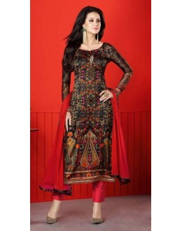 Ethnic Wear Multi-Colour Satin Salwar Suit  - 1411