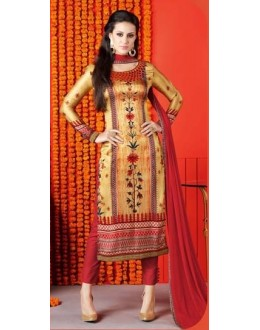 Festival Wear Multi-Colour Satin Salwar Suit  - 1407