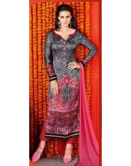 Ethnic Wear Multi-Colour Satin Salwar Suit  - 1410