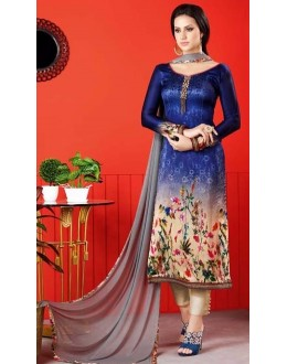 Ethnic Wear Multi-Colour Satin Salwar Suit  - 1412