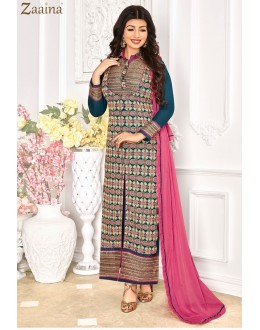 Ayesha Takia In Blue Georgette Salwar Suit - 1146