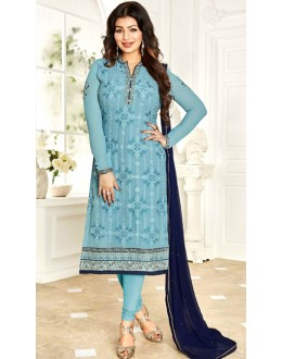 Ayesha Takia In Blue Georgette Salwar Suit  - 1139