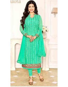 Ayesha Takia In Green Georgette Salwar Suit  - 1144