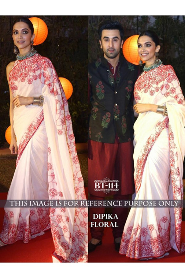 Bollywood Replica - Deepika Padukone Designer Off-White Saree - BT-114