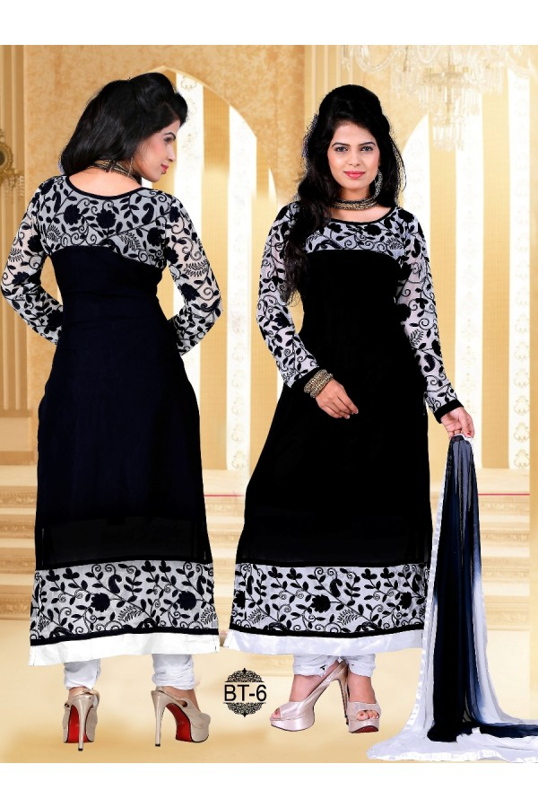 Ethnic Wear Heavy Georgette Black Kurti - BT-6