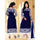 Ethnic Wear Heavy Georgette Blue Kurti - BT-5