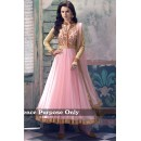 Ethnic Wear Net Baby Pink Anarkali Suit - BT-13