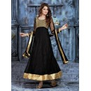Ethnic Wear Net Black Anarkali Suit - BT-3