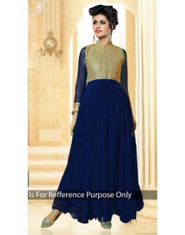 Party Wear Heavy Georgette Blue Gown - BT-1