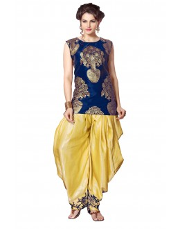 Bollywood Replica - Festival Wear Blue Indo Western Dhoti Suit  - KZA-16