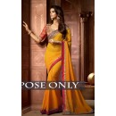 Bollywood Replica -  Designer Yellow Saree - 1513