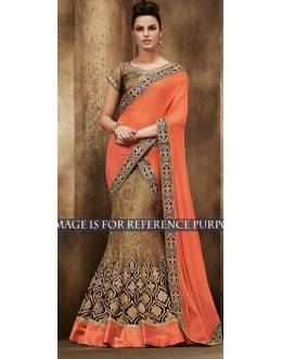 Bollywood Replica -  Designer Multicolour Lehenga Saree - 1517