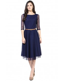 Party Wear Readymade Blue Western Wear Dress - D-02