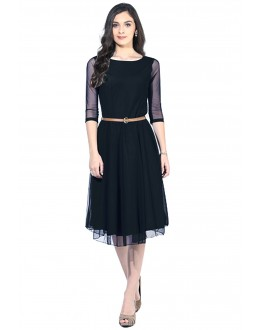 Fancy Readymade Black Western Wear Dress - D-03