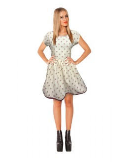 Party Wear Readymade White Western Wear Dress - D-11