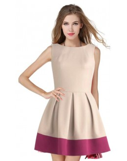 Casual Wear Readymade Cream Western Wear Dress - D-16