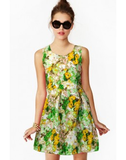 Casual Wear Readymade Green Western Wear Dress - D-23