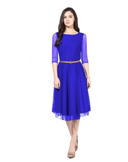 Ethnic Wear Readymade Blue Western Wear Dress - D-29