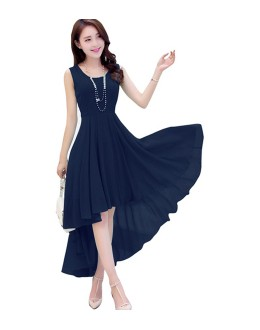 Fancy Readymade Navy Blue Western Wear Dress - D-39