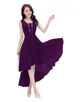Party Wear Readymade Wine Western Wear Dress - D-40