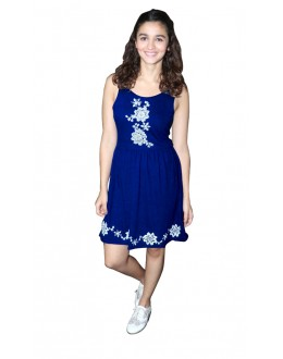 Party Wear Readymade Blue Western Wear Dress - D-47