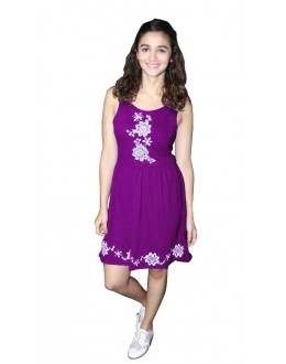 Fancy Readymade Wine Western Wear Dress - D-48