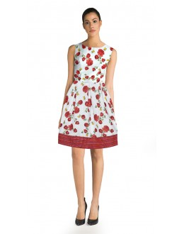 Casual Wear Readymade Red Western Wear Dress - D-51