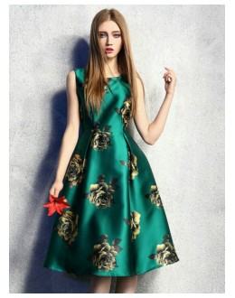 Casual Wear Readymade Green Western Wear Dress - D-56