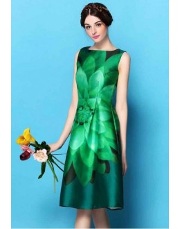 Ethnic Wear Readymade Green Western Wear Dress - D-57