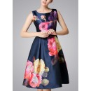 Casual Wear Readymade Navy Blue Western Wear Dress - D-60