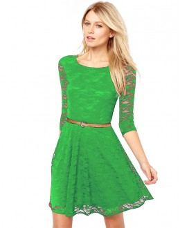 Fancy Readymade Green Western Wear Dress - D-64